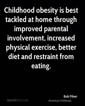 Childhood obesity is best tackled at home through improved parental ...