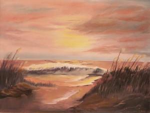 Sunset Beach Art Paintings