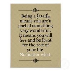 Families who have this bond are so truly blessed! More