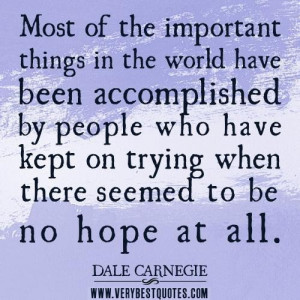 Hope quotes perseverance quotes most of the important things in the ...