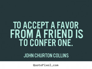 John Churton Collins Friendship Print Quote On Canvas