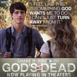 God's Not Dead - Shane Harper as (Josh Wheaton) in God's Not Dead now ...