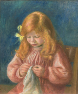 Pierre-Auguste RenoirFrench, 1841–1919, Jean Renoir Sewing