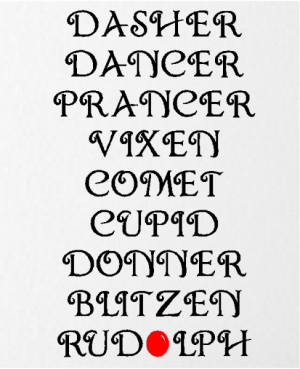 reindeer names christmas quotes wall words decals lettering