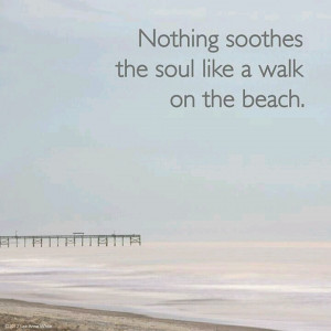 Soothe the soul walking on the beach