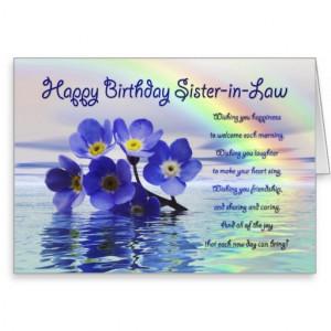 La tarjeta de cumpleaños para la cuñada con me olv