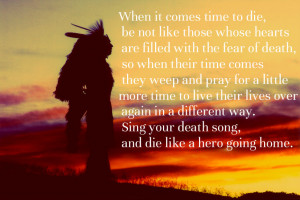 Chief Tecumseh Death Quote