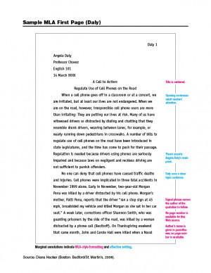 Narrative Essay In Mla Format