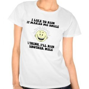Cute running saying t-shirts
