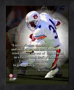 Bo Jackson Auburn Tigers Pro Quotes Framed 8x10 Photo at Amazon.com