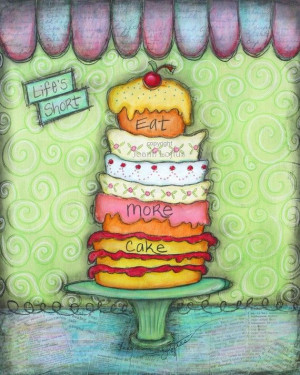 Kitchen Art Cupcake Print – Whimsical Funky Inspirational Quote ...