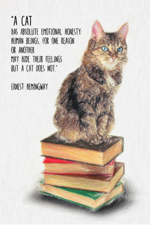 Cat Quotes Ernest Hemingway ~ Cat Quote By Ernest Hemingway by Taylan ...