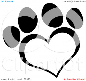 Cartoon Dog Paw Black And...