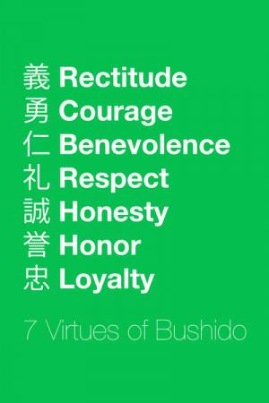 Seven Virtues of Bushido Art Print