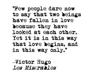 Les Miserables love quote retro typ ewriter literary print romance ...
