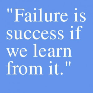 Motivational picture quote failure and success