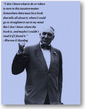 Funny Friday with Warren G. Harding