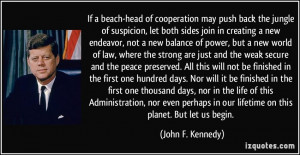 Cooperation Quotes If a beach-head of cooperation