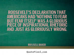 But Fear Itself Quote