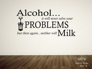 Funny kitchen sayings in vinyl: Alcohol...Quotes Wall, Quote Wall ...