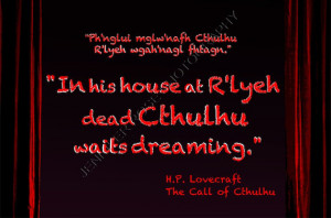 Lovecraft Cthulhu Goth Quote Art 5x7 Framed Inspirational Print ...