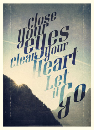 Let it Go Quote Print Limited Edition by promopocket on Etsy