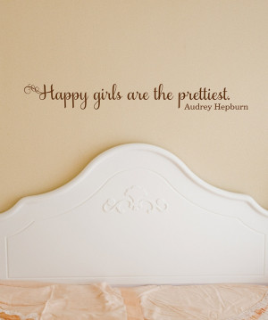 Belvedere Designs Chocolate 'Happy Girls' Wall Quote