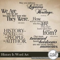 History Is Word Art More