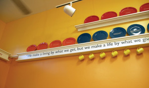 Quote, St. Vincent de Paul Free Dining Room, Debra Nichols Design