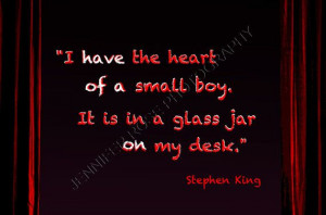 Stephen King Goth Quote Art 5x7 Framed by JenniferRoseGallery, $20.00