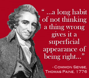 Thomas Paine Common Sense Quotes Process · this made sense!
