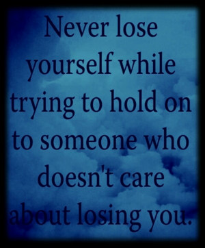 Never Lose Yourself While