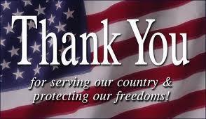 Thank You Servicemen/women everywhere