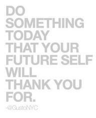 Do something for yourself!