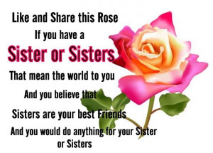 My sisters mean the world to me!