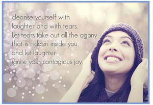 Laughter and tears are both responses to frustration and exhaustion. I ...