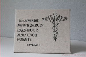 Embroidered Hippocrates Quote Art of Medicine by knittyMD on Etsy, $40 ...