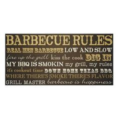 Barbecue Rules Wall Plaque at kohls.fun for outside. More