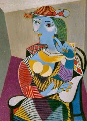 Seated Woman (Marie-Therese),1937 by Picasso