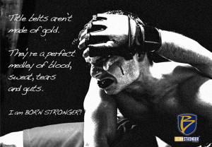 Titles belts aren't made of gold...