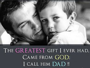 father gives to his son, both laugh; when a son gives to his father ...