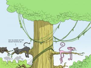 Cartoon - Pink Panther Humor Funny Gay Cat Panther Wallpaper
