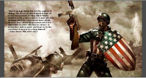 Photoshop World War II image. Cap with original shield and quote from ...