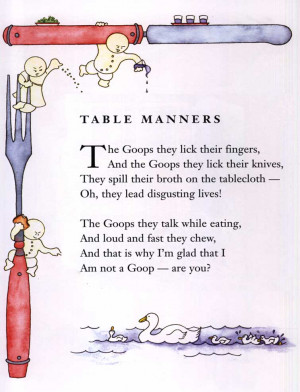 Table Manners Poem