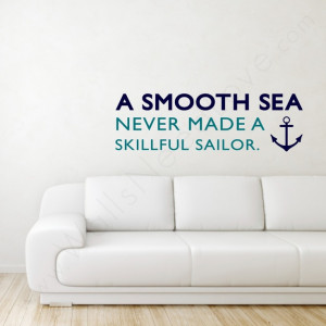 Sea Wall Quote above the couch