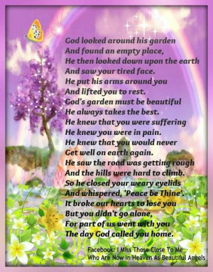 God's Garden Poem | God looked around his garden... | Sayings to keep ...