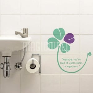 Home » Lucky Four Leaf Clover Grass - Quote - Wall Decals Stickers