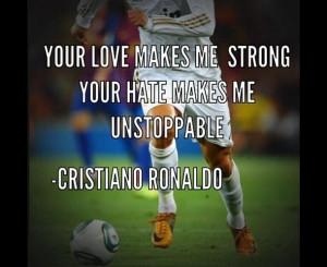 Cr7 Cristiano Ronaldo Hate Quote Soccer Inspirational Qoute
