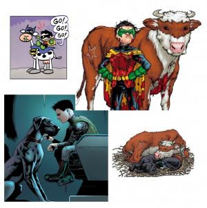 Holy Cow Batman Quotes Robin Bat-cow (batman & robin,