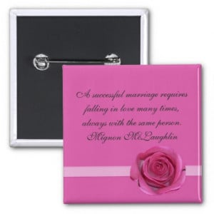 Pink Romantic Rose Quotes Button